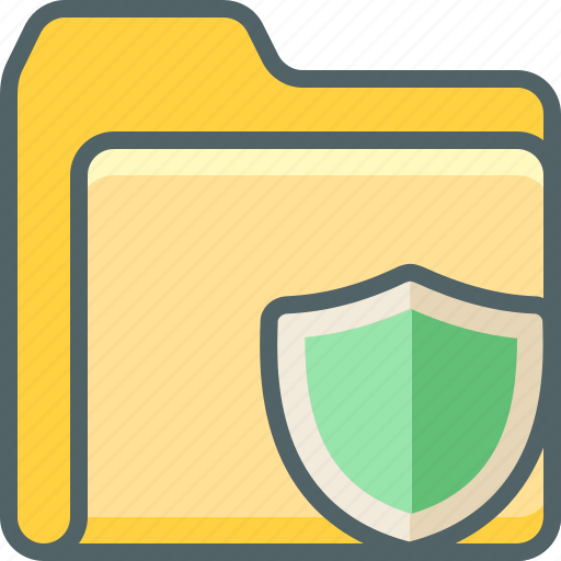 document, file, folder, protection, safe, security, shield icon
