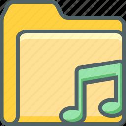 bar, document, file, folder, music, note, single icon