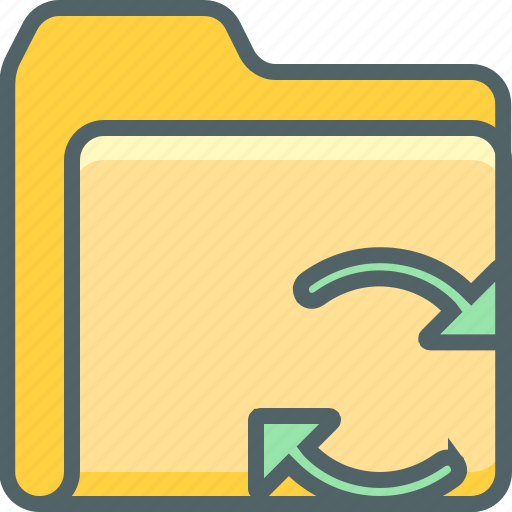 document, exchange, file, folder, network, reload, sync icon