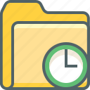 alarm, clock, document, file, folder, time, timer icon