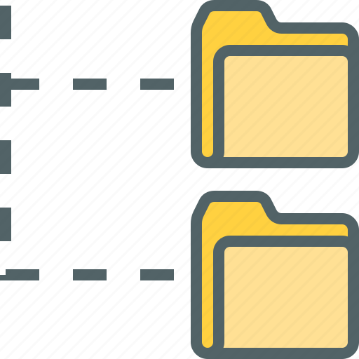 archive, document, file, folder, format, structure, tree icon