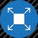 arrows, desktop, expand, maximize