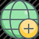 add, global, create, international, network, new, plus