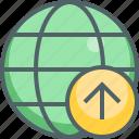 arrow, global, up, international, navigation, network, upload