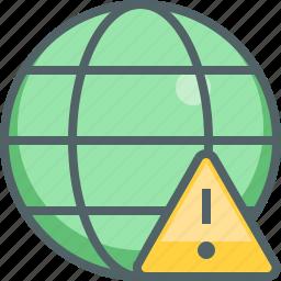 alert, caution, danger, global, international, network, warning icon