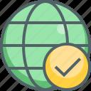check, global, accept, international, mark, network, tick