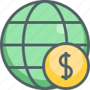 dollar, finance, global, international, money, network, payment icon