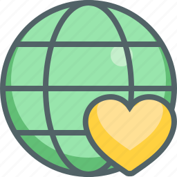 bookmark, global, heart, international, love, network, roamntic icon