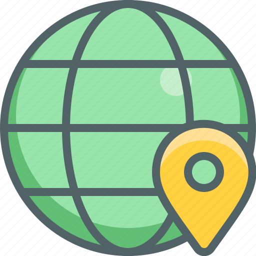 connection, direction, global, international, location, navigation, network icon