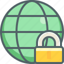 global, international, lock, network, protection, safe, secure icon