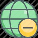 global, remove, close, delete, international, minus, network