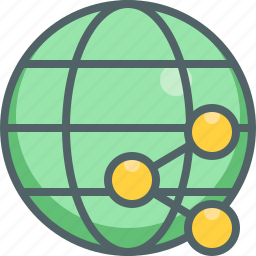 cloud, connection, global, international, network, share, social icon