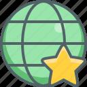 global, star, bookmark, favorite, international, like, network