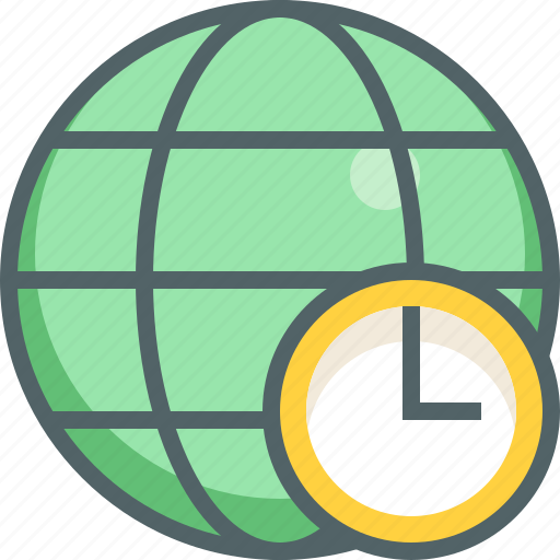 alarm, clock, global, international, network, time, timer icon