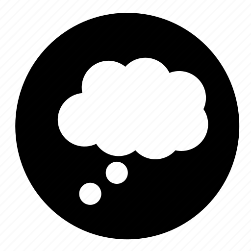 circle, message, thinking, thought bubble, ui icon