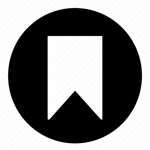 bookmark, circle, note, reminder, save, ui, ux icon