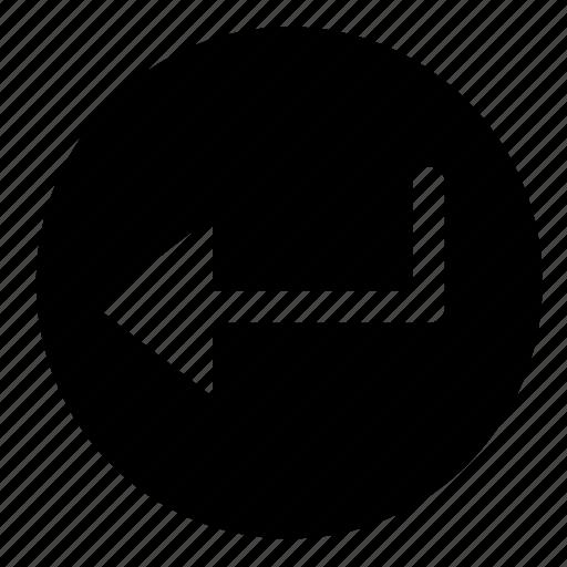 circle, enter, interface, keyboard, ui, ux icon