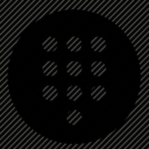 call, circle, dial, keypad, numeric, phone, ui icon