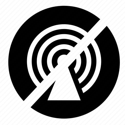 circle, communication, hotspot, network, no access, signal, ui icon