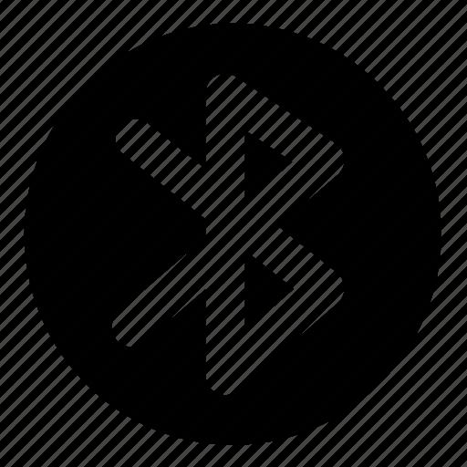 bluetooth, circle, communication, network, ui icon