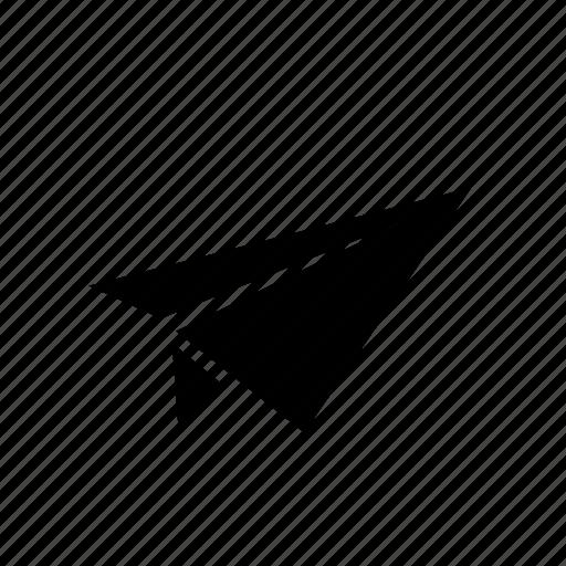 arrow, message, paper plane, send, single, ui icon