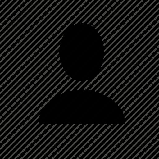 contact, person, single, ui, user icon