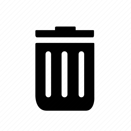 can, delete, garbage, recycle bin, single, trash, ui icon