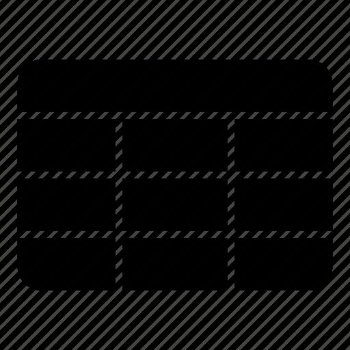 cells, column, data, row, spreadsheet, table icon