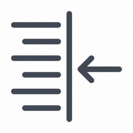 indent, right, text icon