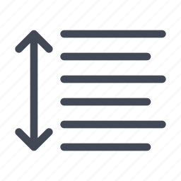 height, line, text icon