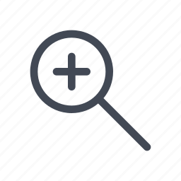 magnifying glass, zoom, zoom in icon