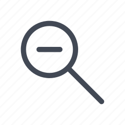 magnifying glass, zoom, zoom out icon