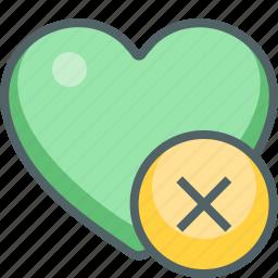 cancel, close, delete, favorite, heart, love, remove icon