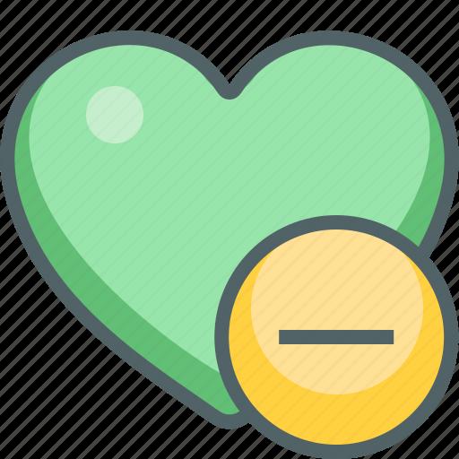 cancel, close, delete, favorite, heart, minus, remove icon