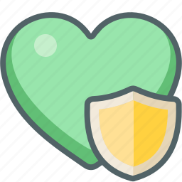 favorite, heart, protect, protection, safe, security, shield icon