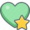 achievement, award, bookmark, favorite, heart, prize, star icon
