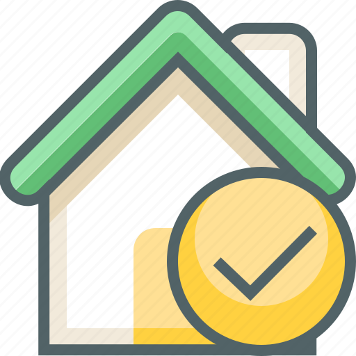 Check, house, accept, building, estate, ok, yes icon - Download on Iconfinder
