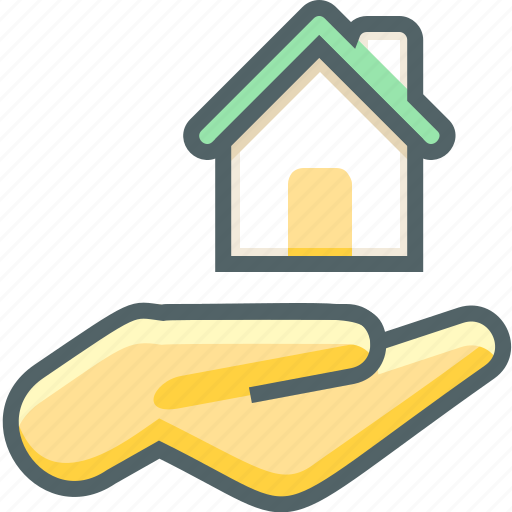 Hand, house, building, estate, fingers, gesture, gestures icon - Download on Iconfinder