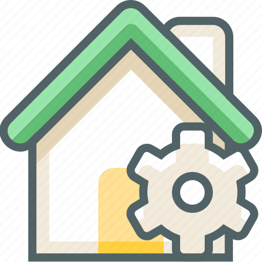 building, configuration, estate, house, options, setting, tool icon