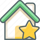 bookmark, building, estate, favorite, favourite, house, star icon