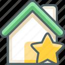 house, star, bookmark, building, estate, favorite, favourite icon