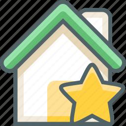 bookmark, building, estate, favorite, favourite, house, star icon