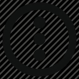 circle, hamburger, list, menu, navigation, options, settings icon