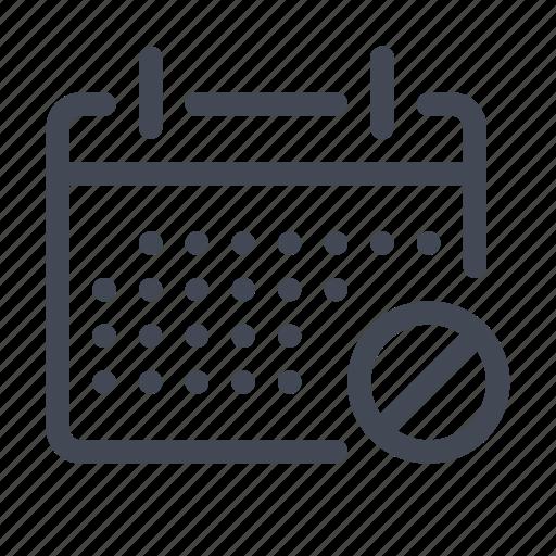 blocked, calendar, date, interface icon