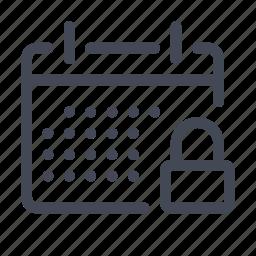 calendar, date, day, event, locked, schedule icon