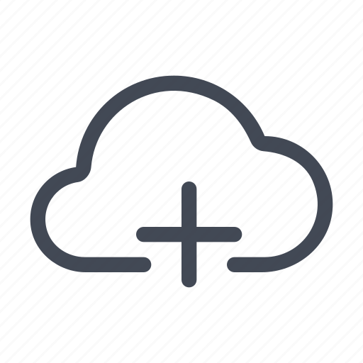 add, cloud, new icon