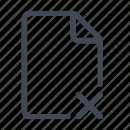 delete file, file, remove icon