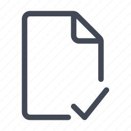 checked, document, file, note, saved, synced, verified icon