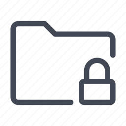 archive, data, directory, documents, folder, locked, storage icon