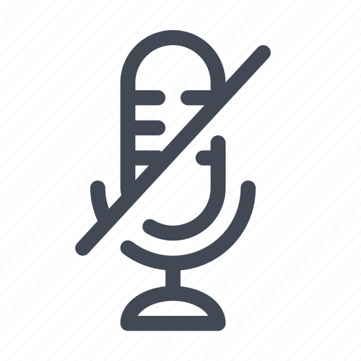 microphone, mute, sound icon